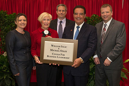 Miami dedicates William Isaac and Michael Oxley Center for Business Leadership